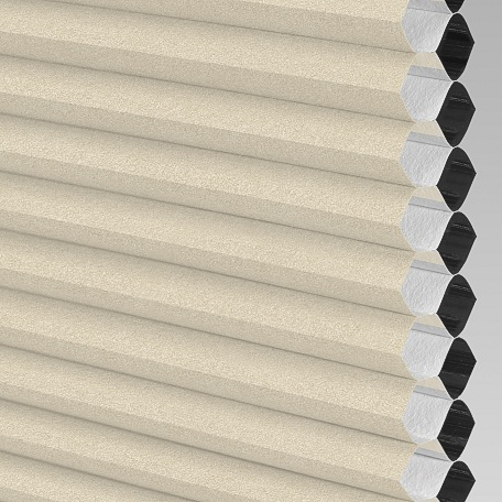 Classic Twin Cell Blackout Motorized Honeycomb Shade