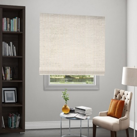 Wendy Bellissimo Natural Woven Motorized Waterfall Shades