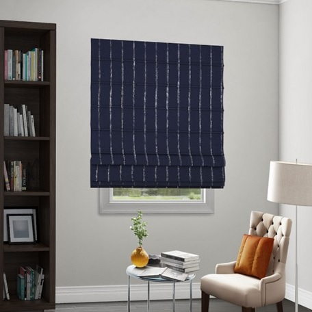Reverse Classic Roman Motorized Fabric Shades