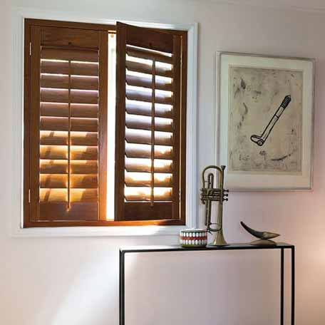 3 1 2 louver teak wood shutters for Indoor wood shutters white