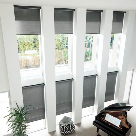 solar motorized roller shade