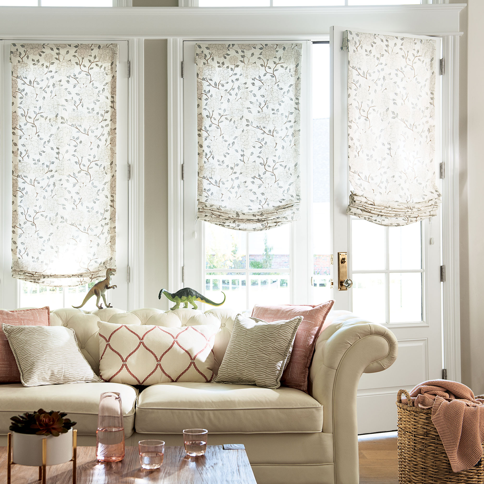 Relaxed Roman Fabric Shades