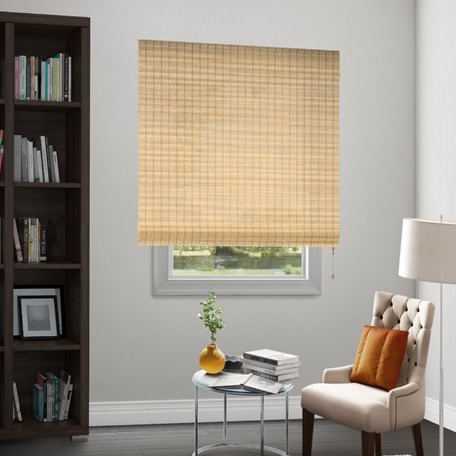 Sale natural woven waterfall shades for Smith and noble natural woven shades