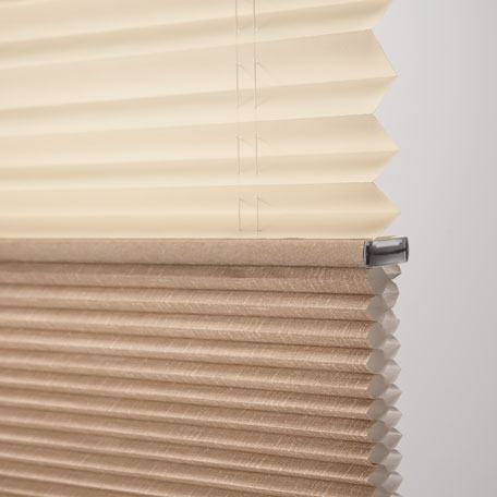 Cambria Twin Cell Light Filtering Dualview Honeycomb Shade