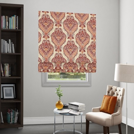 Wendy Bellissimo Home Flat Roman Cordless Fabric Shade