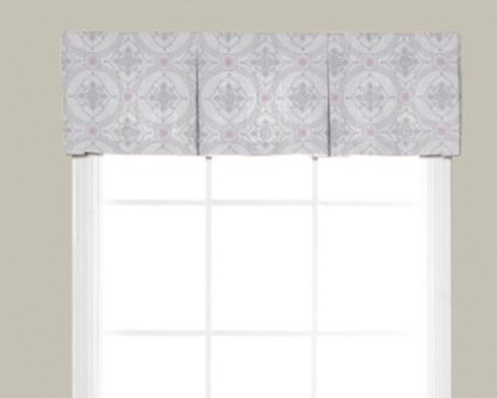 how to make a box pleat valance on a rod
